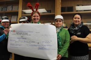 Cargill Christmas Donation Cheque