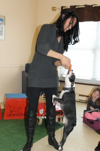 Melissa and dog