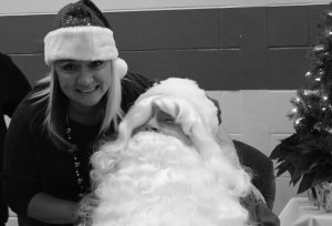 Picture of woman with Santa Claus