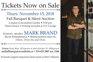 Fall Banquet & Silent Auction Tickets on Sale Now. Call 519-433-2807 extension 2106