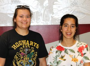 Maggie Calderone (left) and Andrea Giraldo (right), Rotholme's camp counsellors, Summer 2018