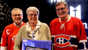 Cindy Taylor, centre, celebrating 15 years of service