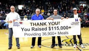 Scan Away Hunger Final Amount Raised - Banner Reveal at London Lightning Game