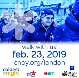 Coldest Night of the Year walk - Saturday, February 23, 2019