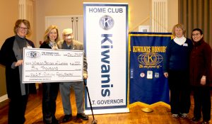 Cheque Presentation from Kiwanis Club of Forest City - London