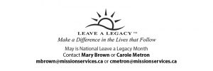 May is National Leave a Legacy Month