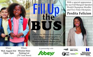 Fill Up the Bus event poster