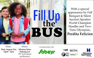 Fill Up the Bus - August 21st at the Mission Store parking lot