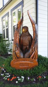 Quintin Warner House - carved eagle