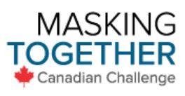 Masking Together Canadian Challenge logo